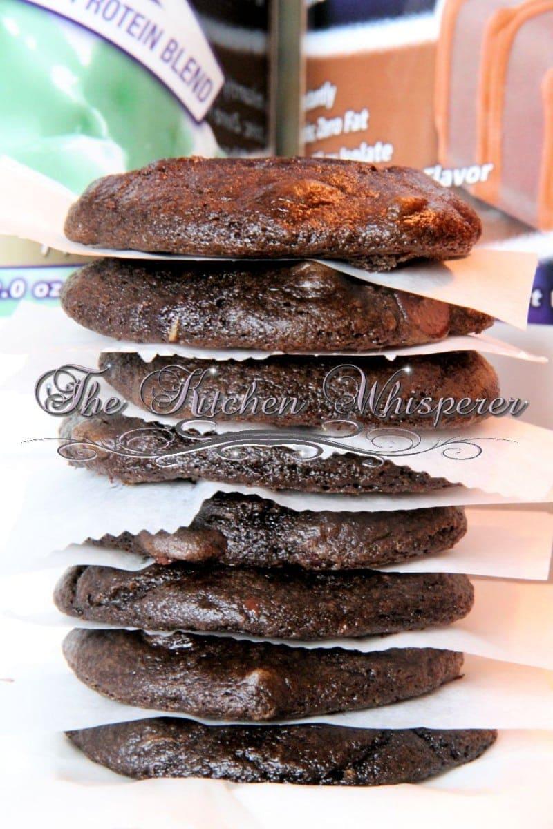 Guiltless Minty Fudge Brownie Cookies1