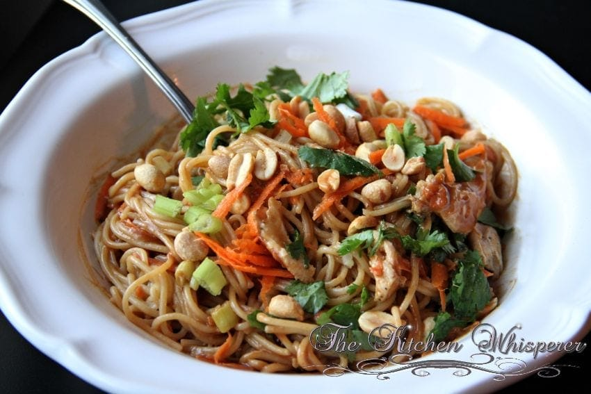 ... sauce asian slaw with ginger peanut dressing peanut butter noodles