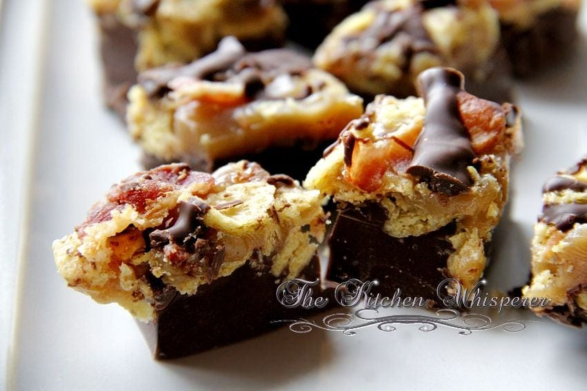 ... 2013 Chocolate Peanut Butter Caramel Bark with Fritos and Bacon