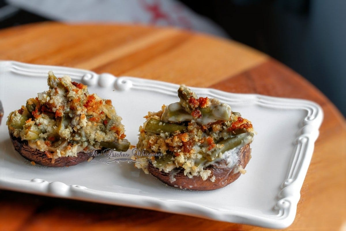 Green Bean Casserole Stuffed Mushroom Caps1