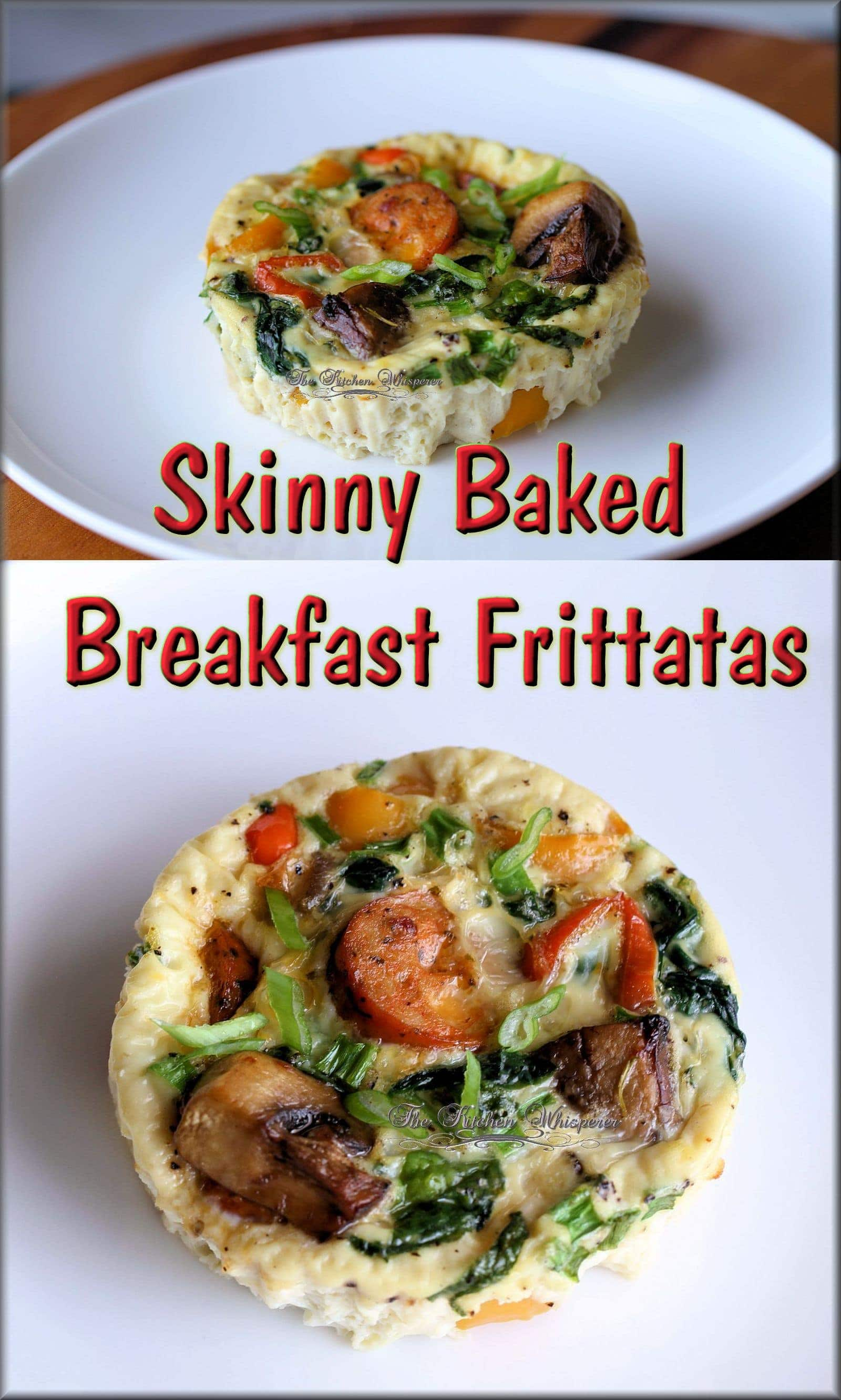 Skinny Baked Frittata Collage