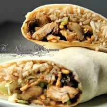 Crunchy Asian Hoisin Chicken Wraps