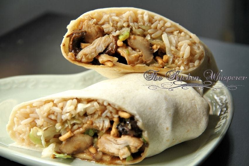 Crunchy Asian Hoisin Chicken Wrap8