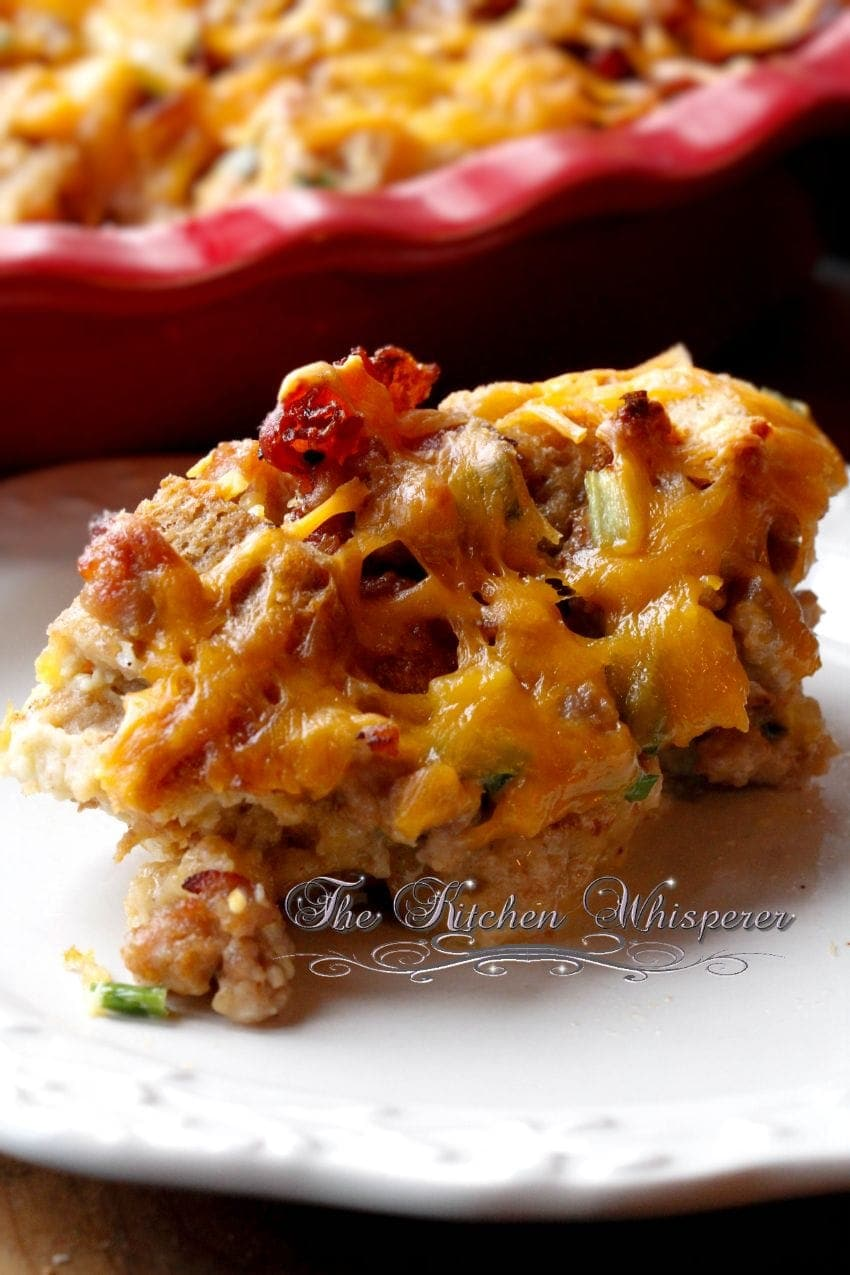 Bacon Egg Sausage Breakfast Casserole4