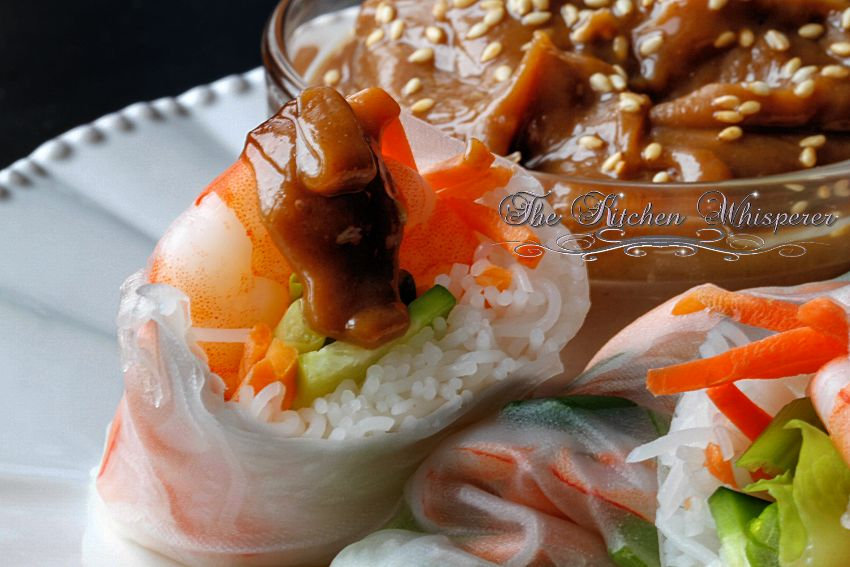 Thai Peanut Shrimp Summer Rolls1