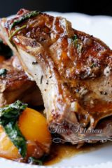 Circle B Ranch Pork Center Cut Chops with Peach Basil Bourbon Glaze
