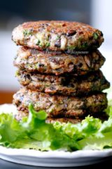 Chunky Portabella Mushroom Veggie Burgers