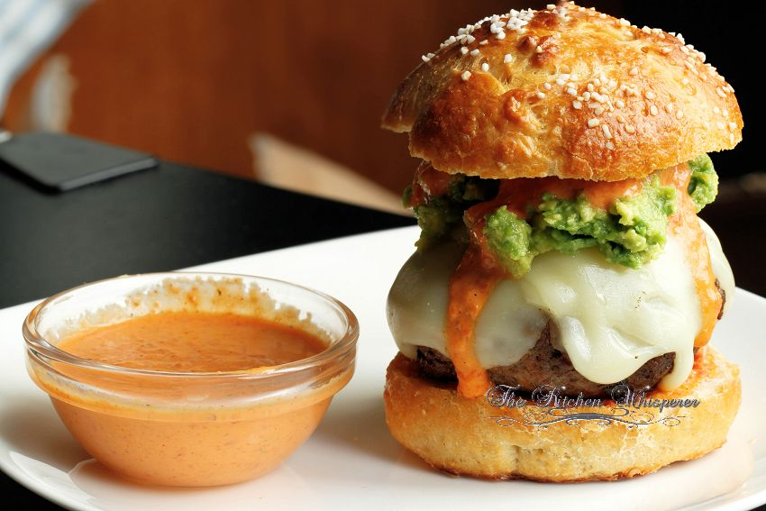 Chorizo Burgers with Cool Ranch Pepper Sauce1