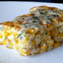 Whether it's a side dish or a main dish, this Baked Creamy Cheesy Corn Casserole is a huge family favorite!