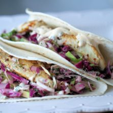 Grilled Fish Soft Tacos with Baja Cream Sauce