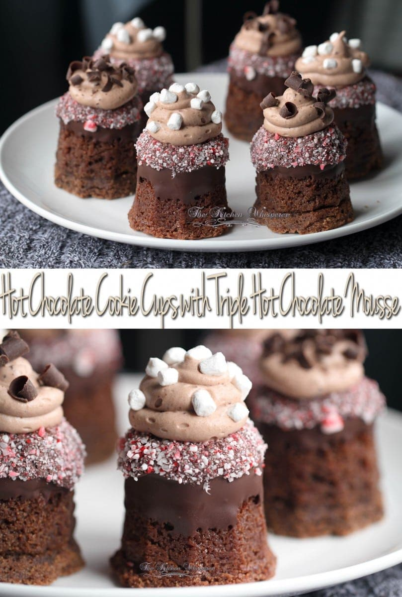 Hot Chocolate Cookie Cups Collage