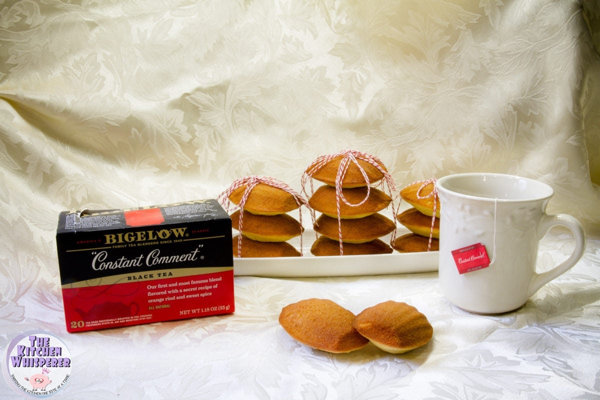 Super light, fluffy and delicious Honey & Lemon Madeleines that go perfectly with Bigelow Tea!