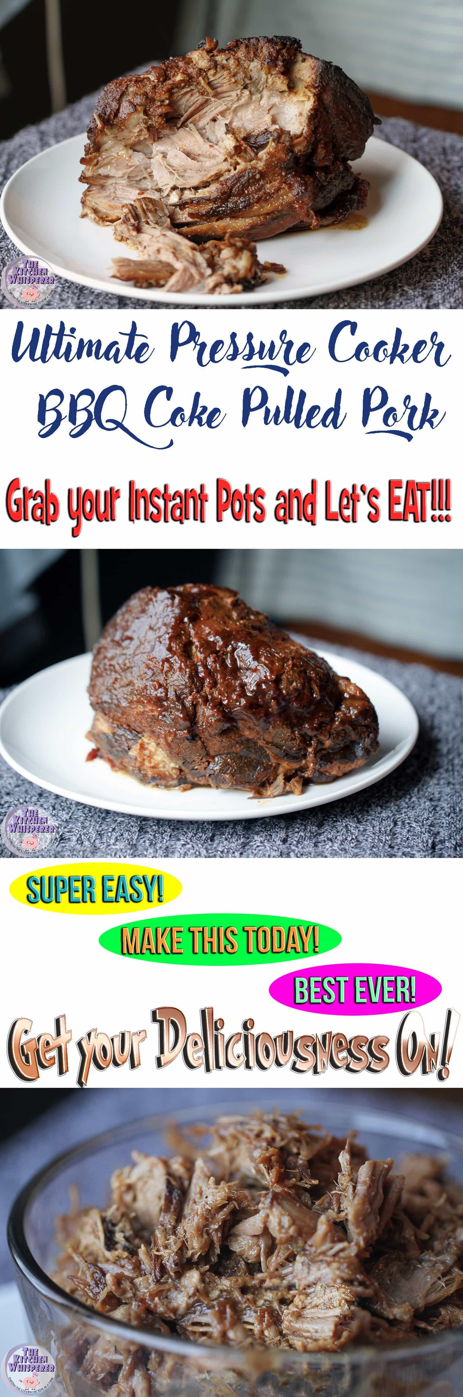 Ultimate Pressure Cooker BBQ Coke Pulled Pork Butt