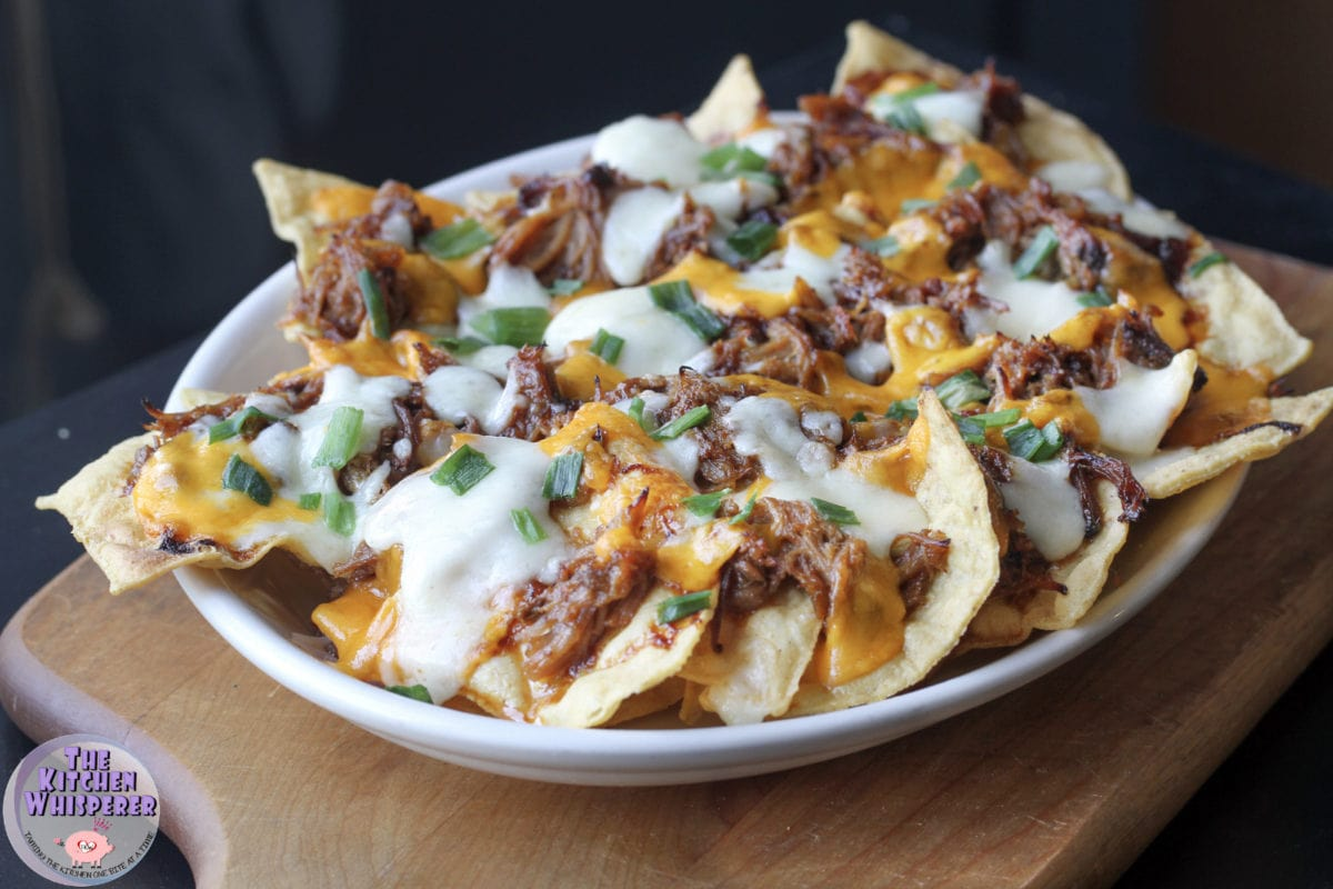 BBQ Pulled Pork Nachos with Lip-Smackin' BBQ Sauce -