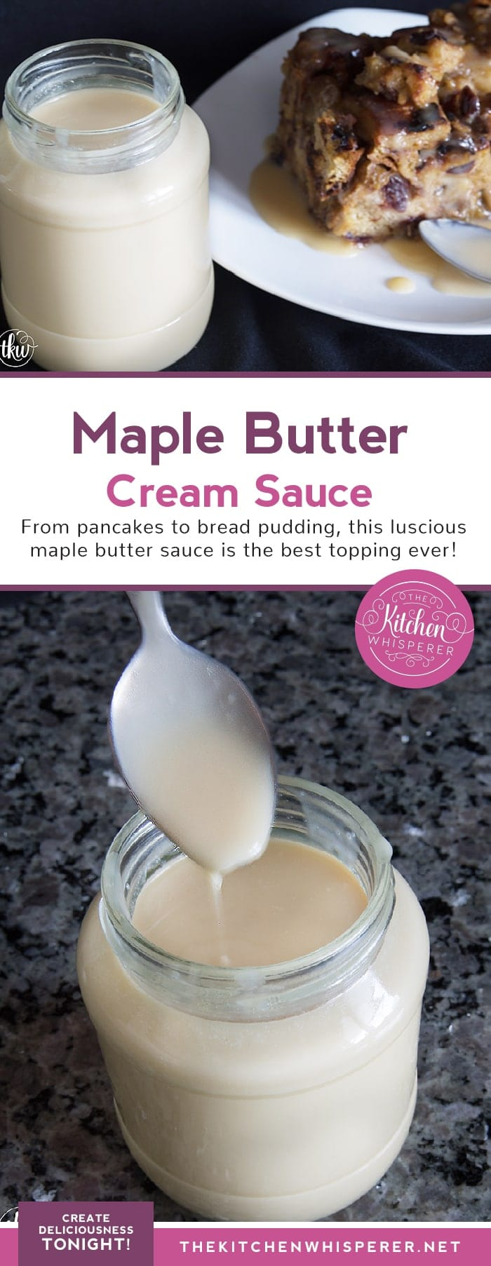 Seriously delicious Maple Butter Cream Sauce