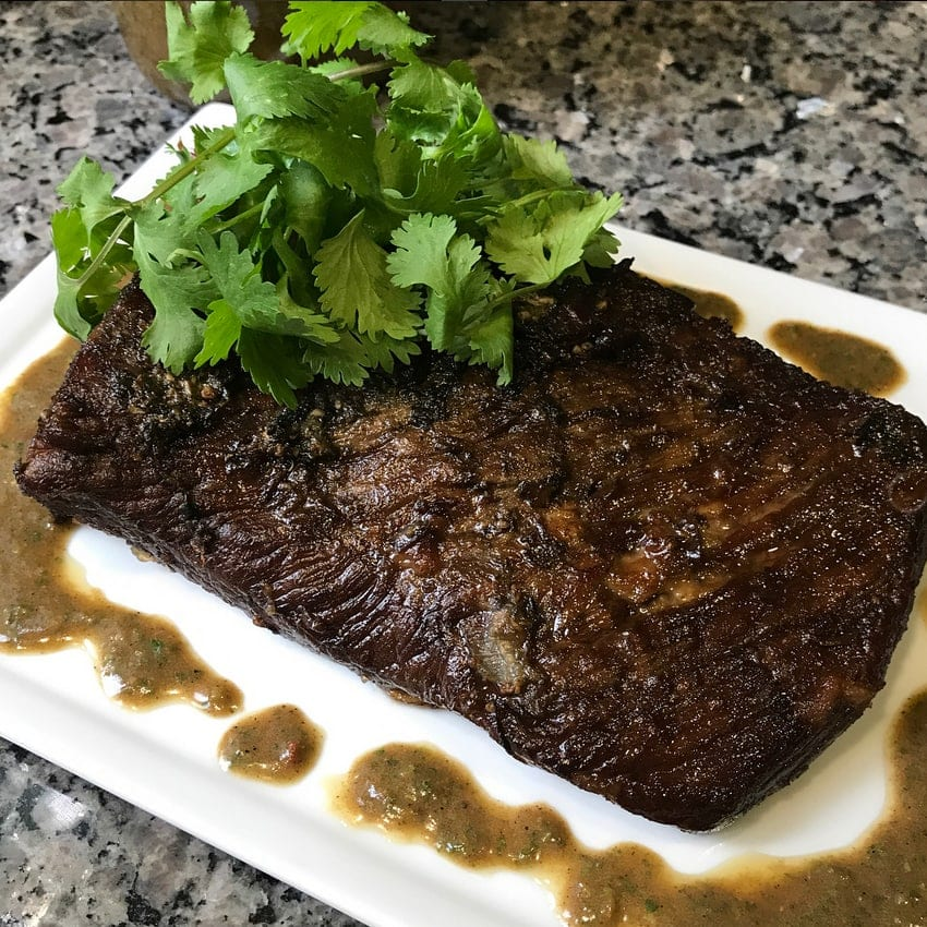 Pin to save this Honey Garlic Broiled Flank Steak