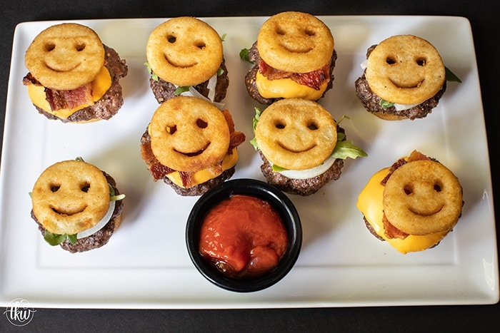 Bacon Cheeseburger Smiles Sliders