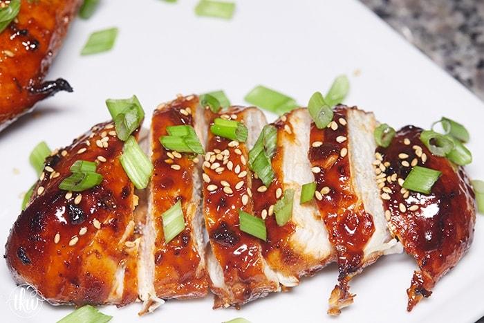 Instant Pot Korean Gochujang Sticky Chicken Breast