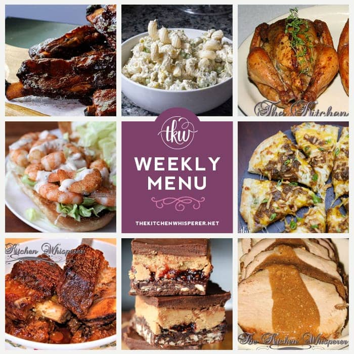 Pin to save this weekly menu for your weekly meal prep!