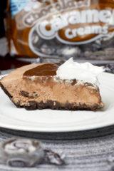 Frozen Chocolate Caramel Cream Pie