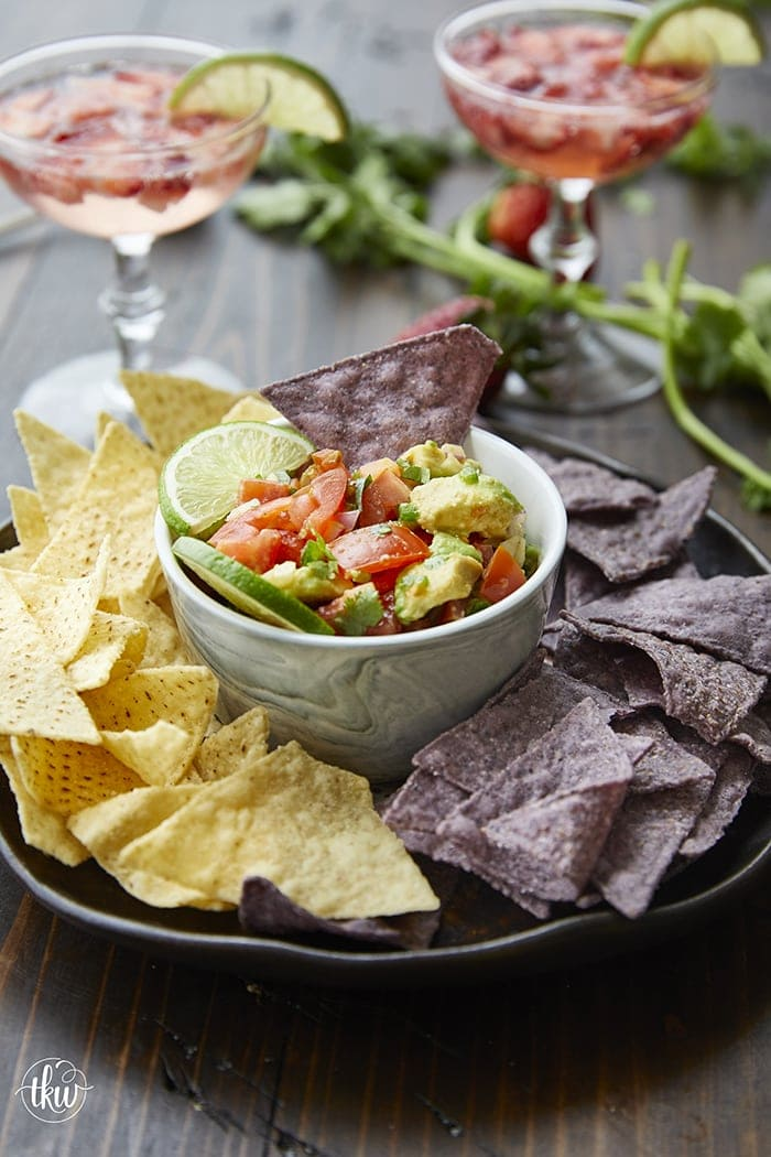 This Farm-Fresh Salsa Fresca is the perfect mixture of chopped tomatoes, red onions, cilantro, garlic, avocado and jalapeno. Use it with chips, add it to burgers for a fiesta topping, spoon it over chicken or pork. Works great on crackers and in omelettes!