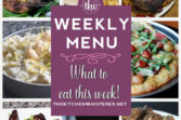 These Weekly Menu recipes allow you to get out of that same ol' recipe rut and try some delicious and easy dishes! This week I highly recommend making the 15 Minute Creamy Lemon Pepper Parmesan Pasta with Langostino, the Pressure Cooker Mom's Classic Pot Roast with Savory Onion Gravy, and the Roasted Grape Prosciutto Pizza Parma!