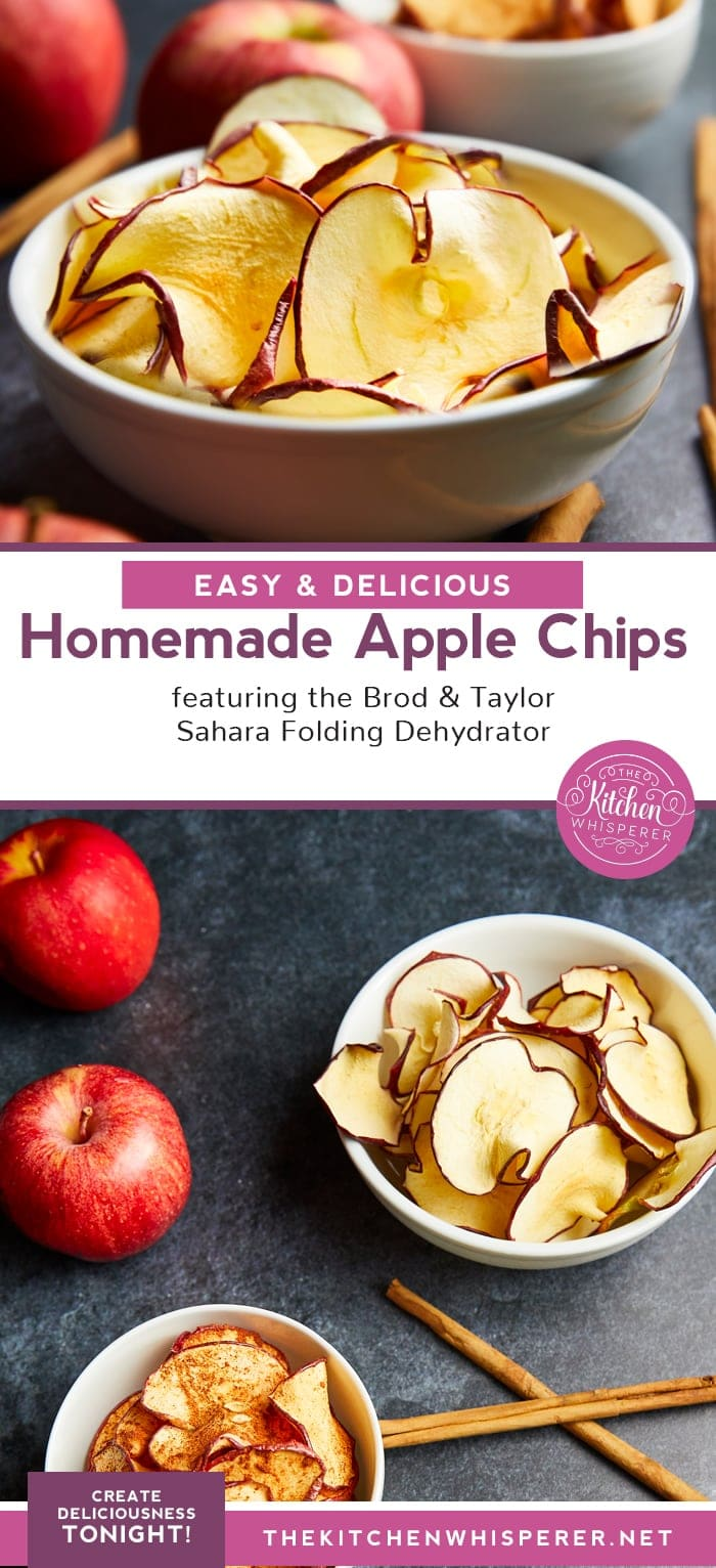 Healthy, Easy & Delicious Homemade Apple Chips! No need to heat up your kitchen with the amazing Brod & Taylor Sahara Folding Dehydrator! Buy one today to stock up on the fresh fruits and veggies! https://brodandtaylor.com/sahara-folding-dehydrator/?AFFID=410067
