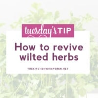 "Tuesday's Tip: Bring those wilted, forgotten herbs back to life with this ""shocking"" method!"