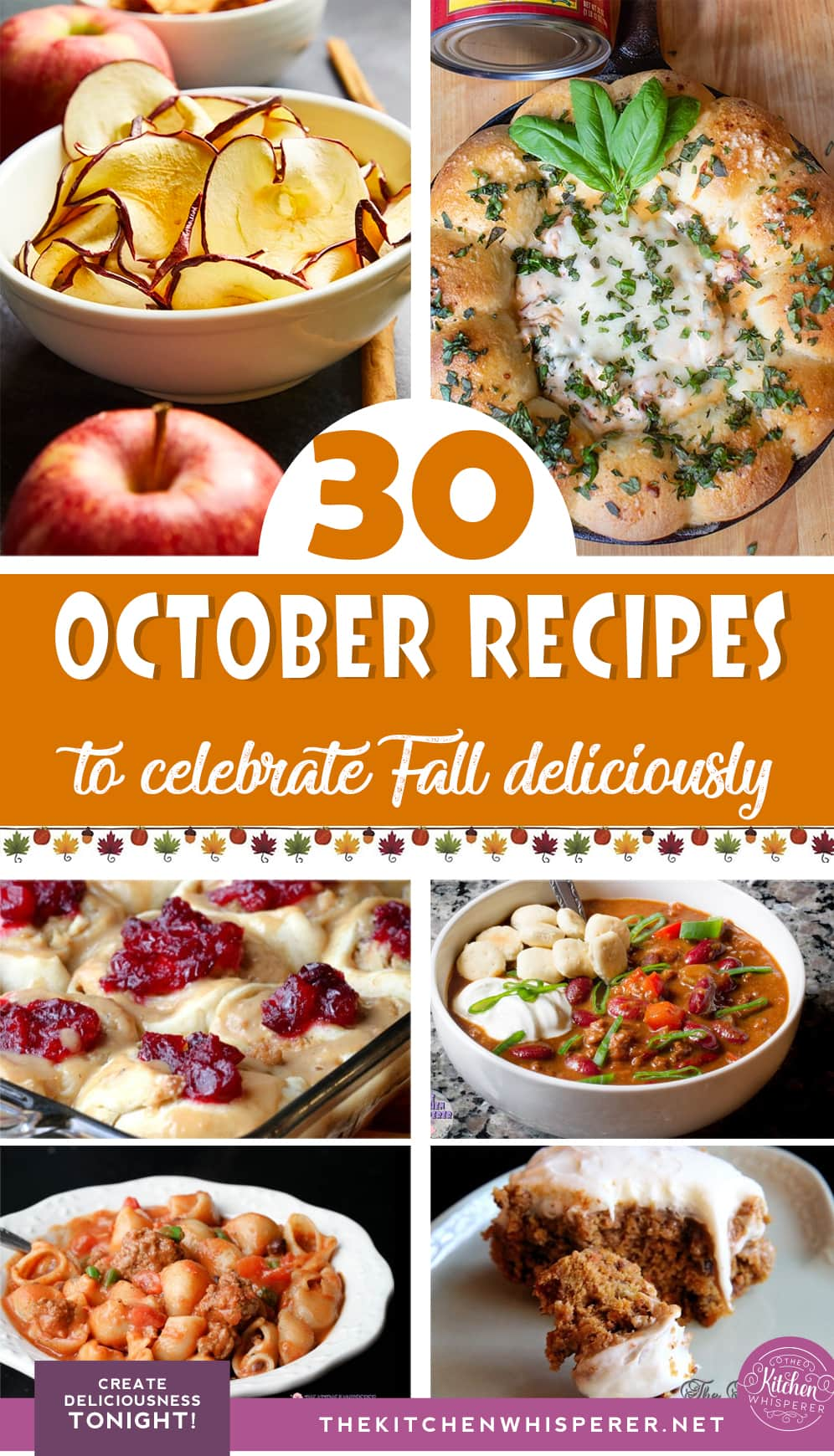 A collection of Autumn-inspired recipes to welcome Fall deliciously. From soups and chili, sourdough and comfort foods these 30 recipes will have you embracing pumpkin spice and everything nice!