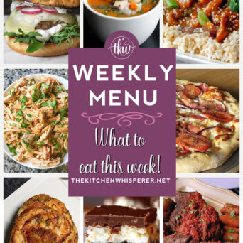 These Weekly Menu recipes allow you to get out of that same ol' recipe rut and try some delicious and easy dishes! This week I highly recommend making the Tuscan White Bean & Sausage Spinach Soup, the Crock-Pot Italian Style Pot Roast, and the Crock-Pot Honey Sesame Chicken!