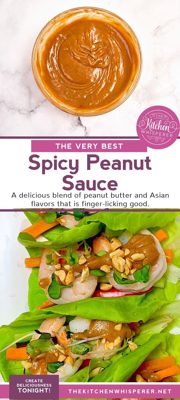 The Best Spicy Peanut Sauce