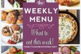 Weekly Menu - 3-8-20