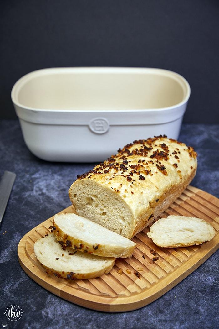 No Knead Onion Bread