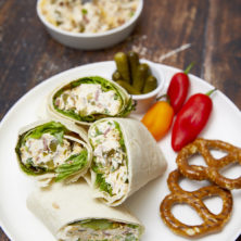 Cheesy Bacon Pickle Wraps