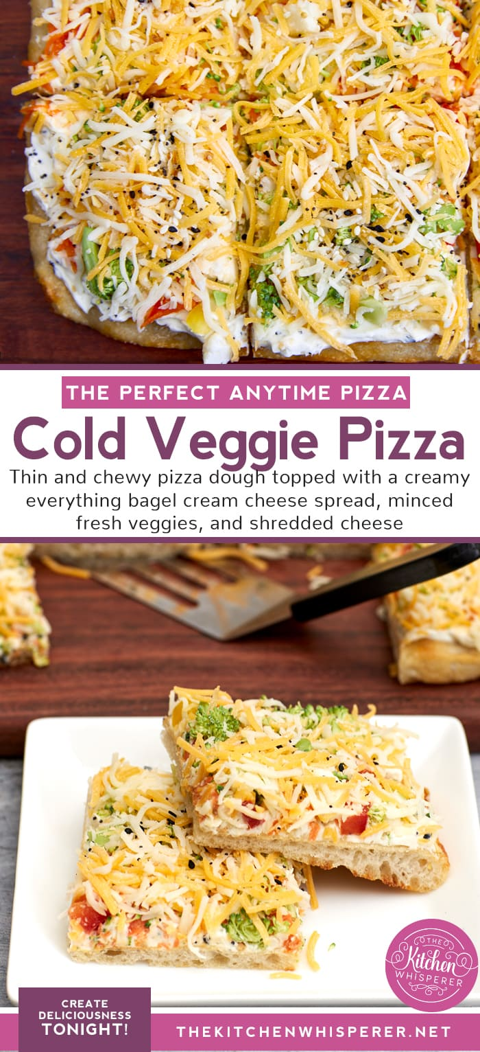 Best Cold Veggie Pizza with Everything Cream Cheese