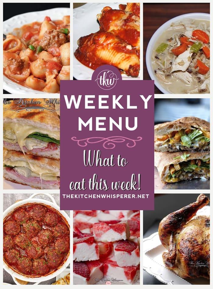 weekly menu 6-6-21